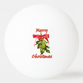 Merry  Christmas mistletoe Ping Pong Ball