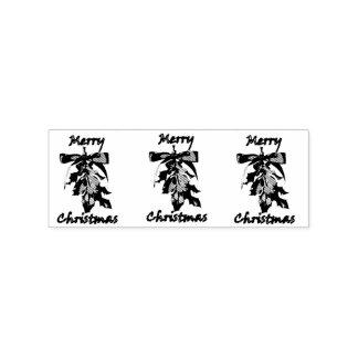 merry christmas mistletoe rubber stamp