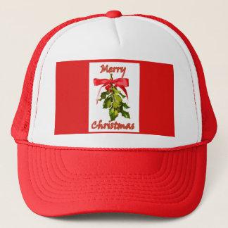 merry christmas mistletoe trucker hat
