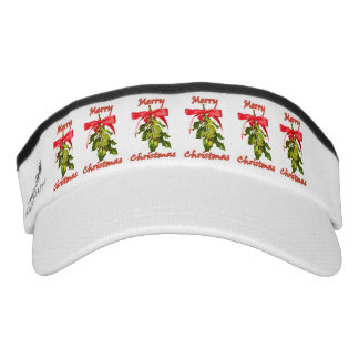 merry christmas mistletoe visor