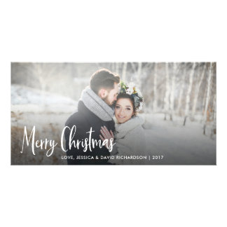 Merry Christmas   Modern Rustic Holiday Card
