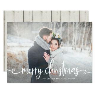 Merry Christmas | Modern Rustic Photo Card