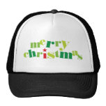 merry christmas modern typography cap