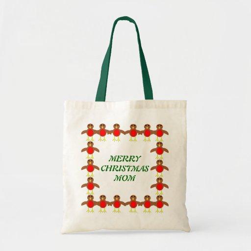 Merry Christmas Mom Custom Robin Gift Bag