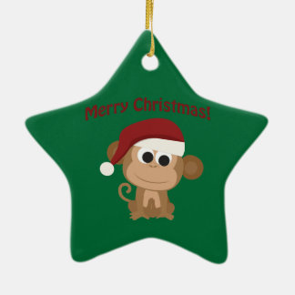 Merry Christmas! Monkey Christmas Ornament