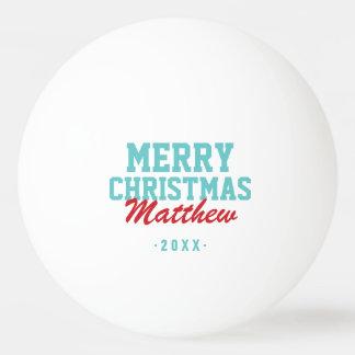 Merry Christmas Monogram Photo Ping Pong Balls