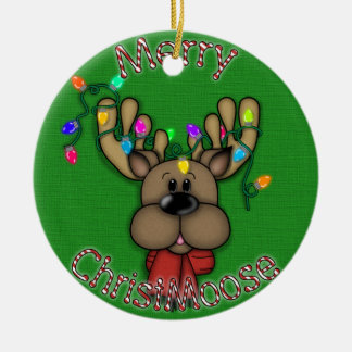 Merry Christmas Moose Christmas Ornament