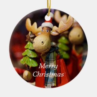 Merry Christmas Moose Country Xmas Ornament