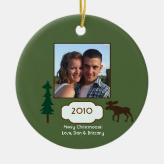 Merry Christmas Moose Ornament Photo Template