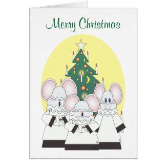 merry christmas mouse choir card