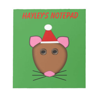 Merry Christmas Mouse Customizable Notepad