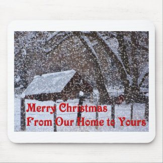 Merry Christmas mouse pad - home comforts