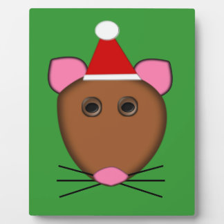 Merry Christmas Mouse Plaque