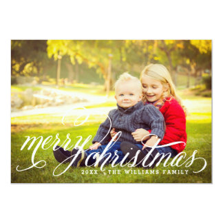 "Merry Christmas | Multi-Photo Holiday Card 5"" X 7"" Invitation Card"