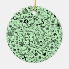 Merry Christmas Multiple Languages Christmas Ornament