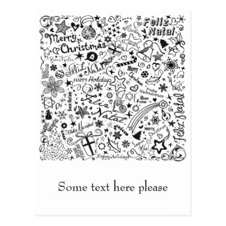 Merry Christmas Multiple Languages Postcard