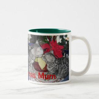 Merry Christmas Mum - Cat Holiday Mug