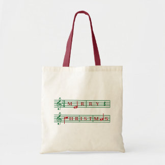 Merry Christmas Music Tote
