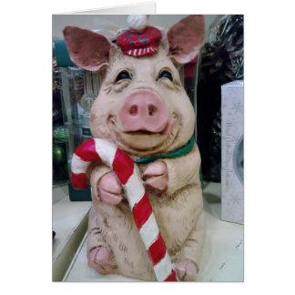 MERRY CHRISTMAS MY LITTLE PIGGY CARD