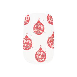Merry Christmas nails Minx Nail Art