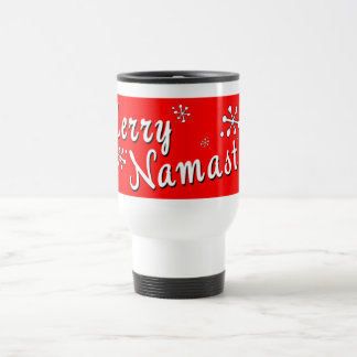Merry Christmas Namaste Gifts Travel Mug