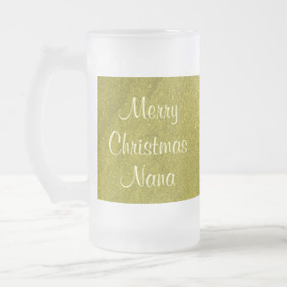 Merry Christmas Nana I Love You Frosted Glass Mug