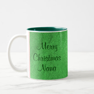 Merry Christmas Nana I Love You Two-Tone Coffee Mug