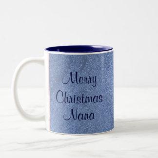 Merry Christmas Nana I Love You Two-Tone Mug