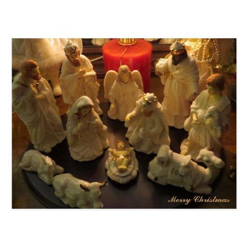 Merry Christmas Nativity Scene Post Card