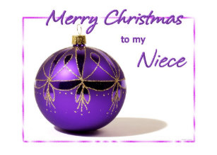 Merry Christmas Niece.Purple Merry Christmas Cards Zazzle Uk