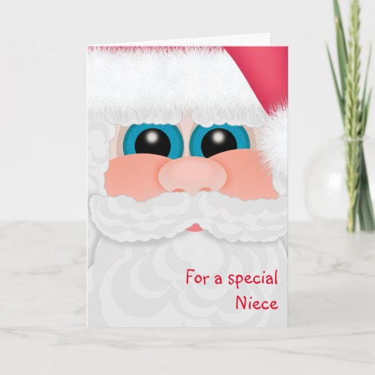 Merry Christmas Niece.Merry Christmas Niece Sweet Santa Holiday Card