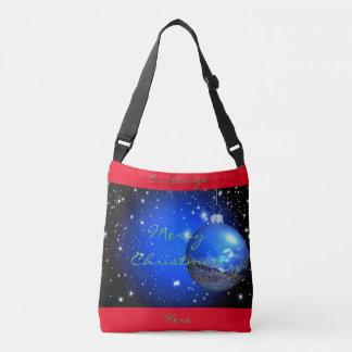 merry christmas night sky ornament crossbody bag
