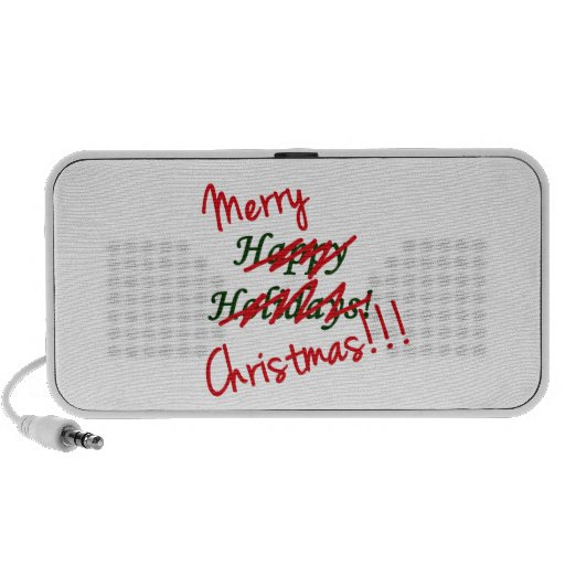 Merry Christmas Not Happy Holidays Speaker
