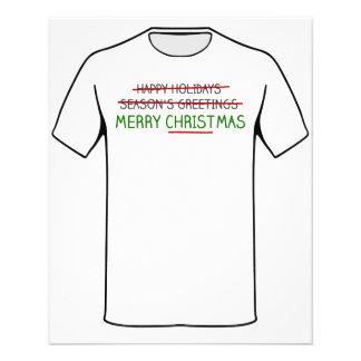 Merry Christmas, Not Season's Greetings 11.5 Cm X 14 Cm Flyer