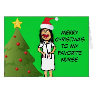 Merry Christmas Nurse Card