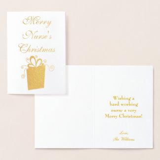 Merry Christmas Nurse Foil Card