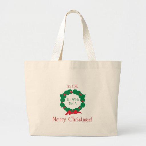 Merry Christmas OK! Jumbo Tote Bag