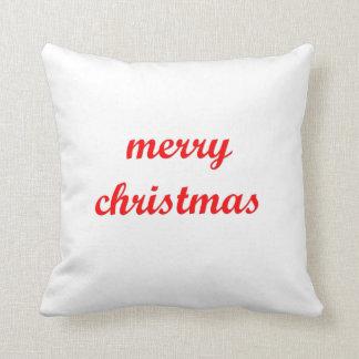 merry christmas on pillow