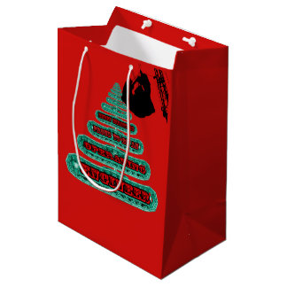 MERRY CHRISTMAS OPERATING ENGINEER CRANE OPERATOR MEDIUM GIFT BAG