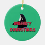 Merry Christmas Orca Whale Spy Hop Christmas Ornam Christmas Ornament