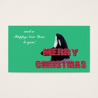 Merry Christmas Orca Whale Spy Hop Mini Christmas