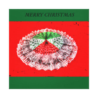 MERRY CHRISTMAS ORIGAMI JAPANESE PAPER ART GALLERY WRAP CANVAS