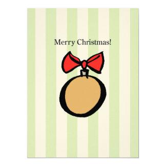 Merry Christmas Ornament 6.5 x 8.75 Felt Ecru GR Card