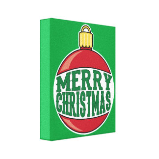 Merry Christmas Ornament Canvas Print
