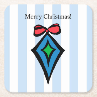 Merry Christmas Ornament Coaster