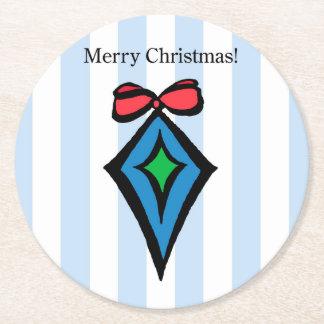 Merry Christmas Ornament Custom Coaster