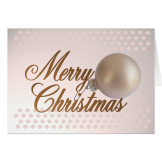 Merry Christmas Ornament Greeting Card