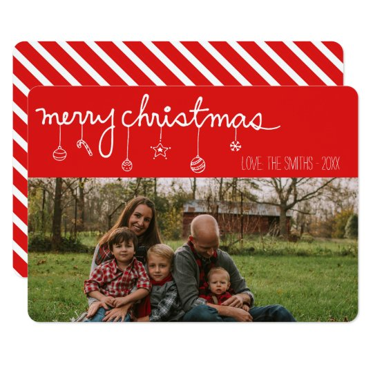 Merry Christmas Ornament Holiday Photo Card