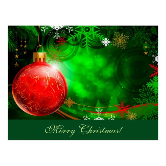 Merry Christmas Ornament Postcard