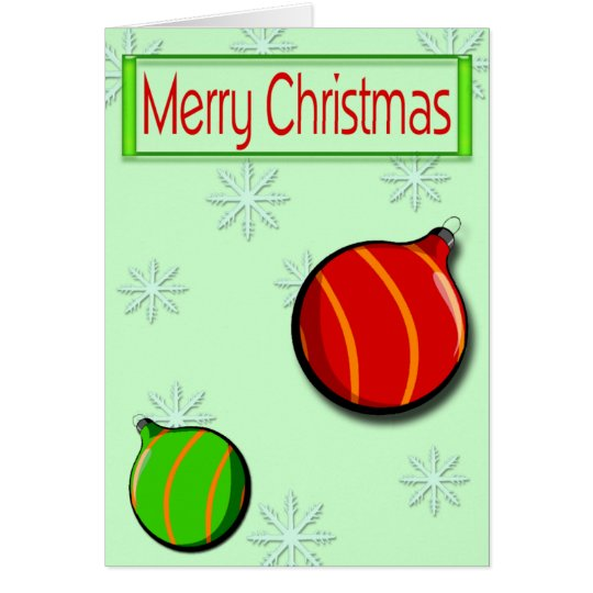 Merry Christmas Ornaments Card